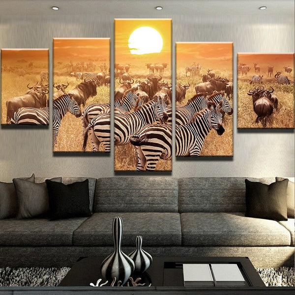Frames Cuadros Animal Zebraation Art For - Mystikz Gaming
