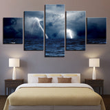 Cloud Waves Sea Ocean Storm Lightning Seascape - Mystikz Gaming
