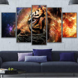 Fire And Ice Tiger Abstract Animal - Mystikz Gaming