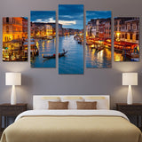 Venice Water City Boat Light Landscape - Mystikz Gaming