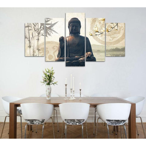 Buddha 5 Piece Canvas Art