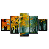 Yellow Leaves Forest Trees Abstract - Mystikz Gaming
