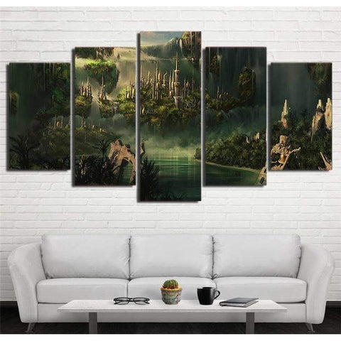 Mysterious Elf Settlement Rivendell Lord of the Rings 5 Piece Canvas Art