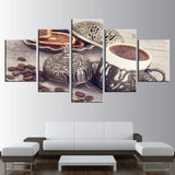 Decor Coffee Bean And Coffee Cup Kitchen - Mystikz Gaming