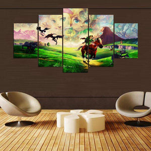 Legend Of Zelda Riding Through Hyrule 5 Piece Canvas Art