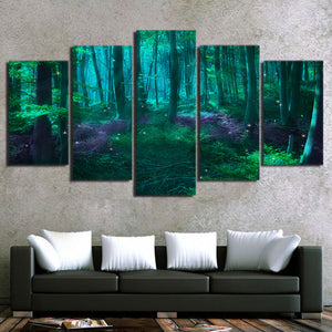 Green Tree Abstract Fairy Tale Forest Tree - Mystikz Gaming