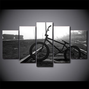 Oil Railway Track Bicycle Landscape Photo Room - Mystikz Gaming