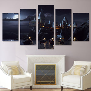 Harry Potter Hogwarts School 5 piece canvas art