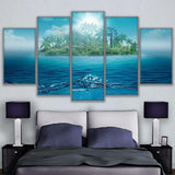 Lonely Island Ocean Landscape Sea Water Trees Palms - Mystikz Gaming