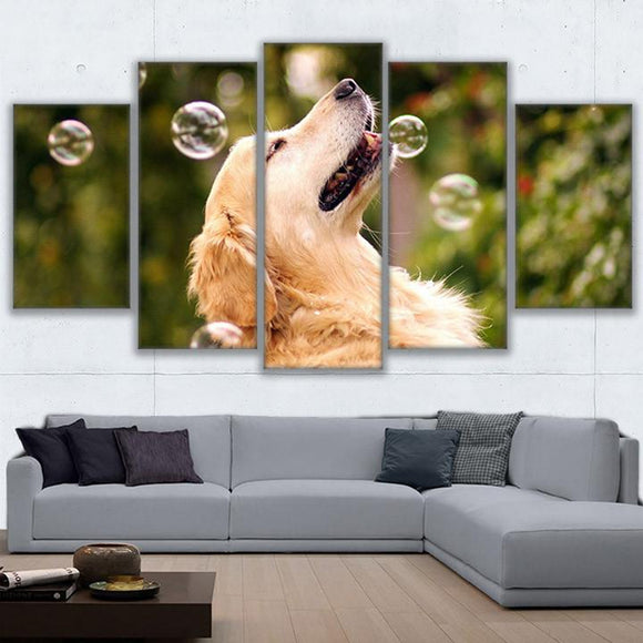 Animal Dog Playing With Bubbles Kids Room - Mystikz Gaming