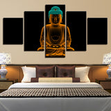 Golden Yellow Buddha Zen Abstract - Mystikz Gaming
