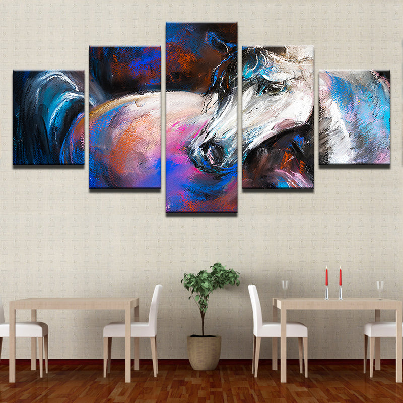 Abstract Animal White Horse - Mystikz Gaming
