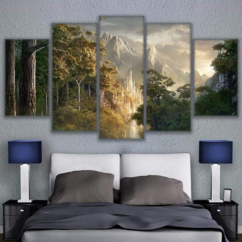 Gondor Castle Lord of the Rings 5 Piece Canvas Art