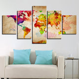 Vintage Color World Map Abstract Watercolor - Mystikz Gaming