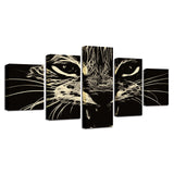 Animal Black Cat Abstract - Mystikz Gaming