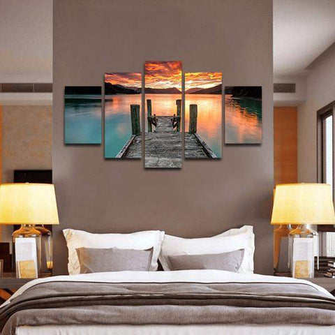 Secret Lake 5 Piece Canvas Art
