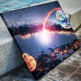 Earth And Mars Canvas Art