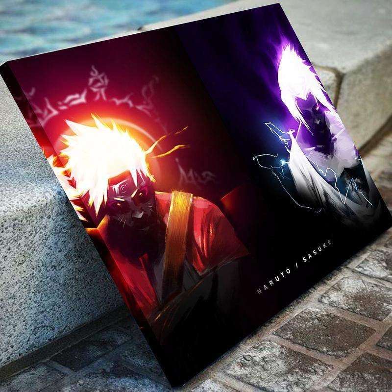 Naruto Vs. Sasuke Canvas Art