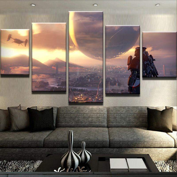 Destiny Scenic And Galactic View Canvas Art