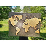 World Map Rusty Style Canvas Art