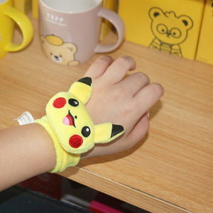 Pokemon Stuffed Pikachu Mini Hand Ruler Toys Charmander Squirtle Bulbasaur Plush Doll Pokemon Anime CartoonBracelet Kid Toy Gift