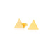 14K Triangle Studs Earrings by Jamie Park Jewelry
