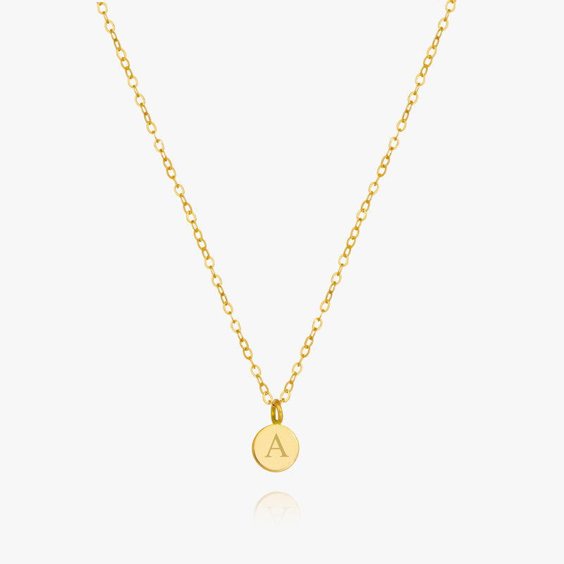 14K Round Charm Necklace
