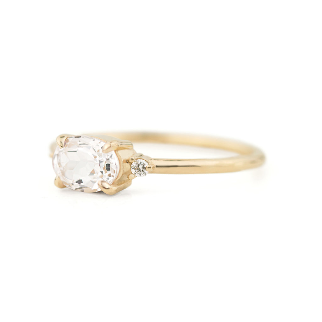 Ella White Sapphire Ring by Jamie Park Jewelry
