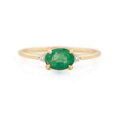 Ella Emerald Diamond Ring by Jamie Park Jewelry