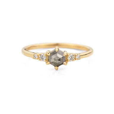 Pippa Hexagon Diamond Ring | Jamie Park Jewelry