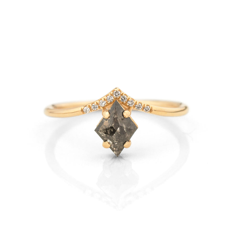 Kite Salt and Pepper Diamond Peak Ring Jamie Park Jewelry