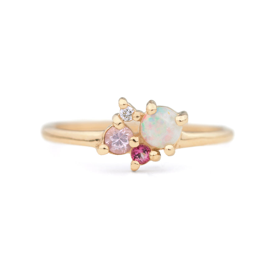 Opal Mixed Stone Cluster Ring by Jamie Park Jewelry