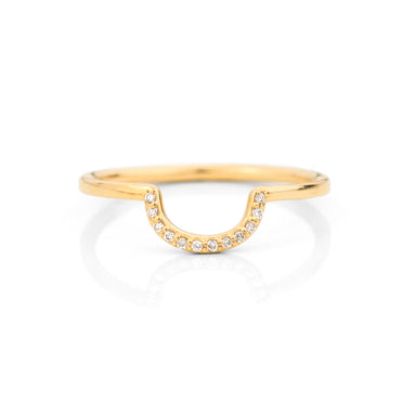 Diamond Deep Curve Ring by Jamie Park Jewelry