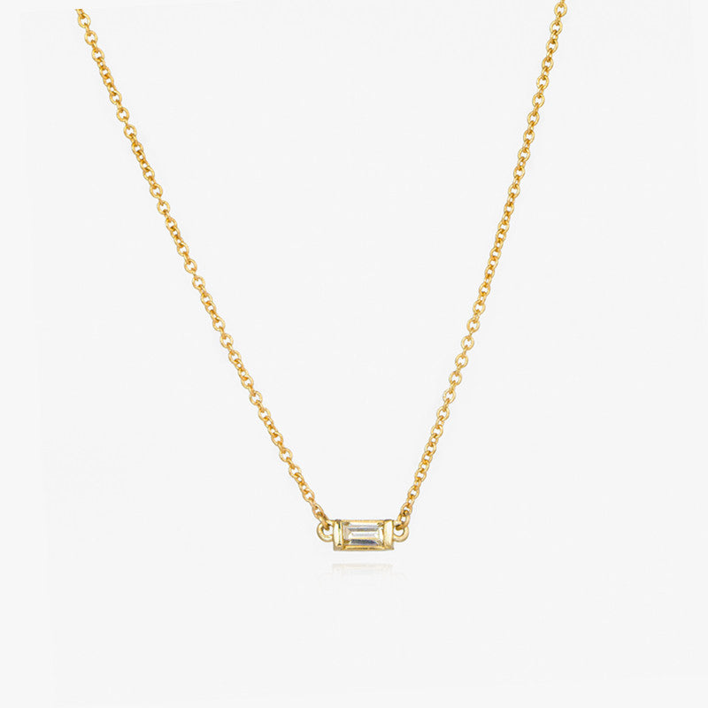 Baguette Diamond Necklace by Jamie Park Jewlery