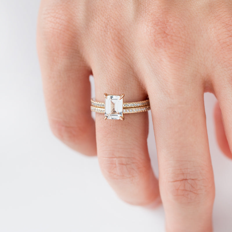 White sapphire diamond Engagement Ring, Bella Ring by Jamie Park Jewelry