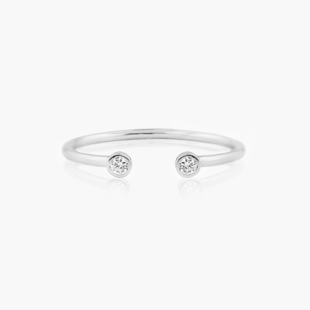 Open Cuff Diamond Ring