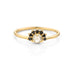 Black Diamond Half Halo Ring by Jamie Park Jewelry