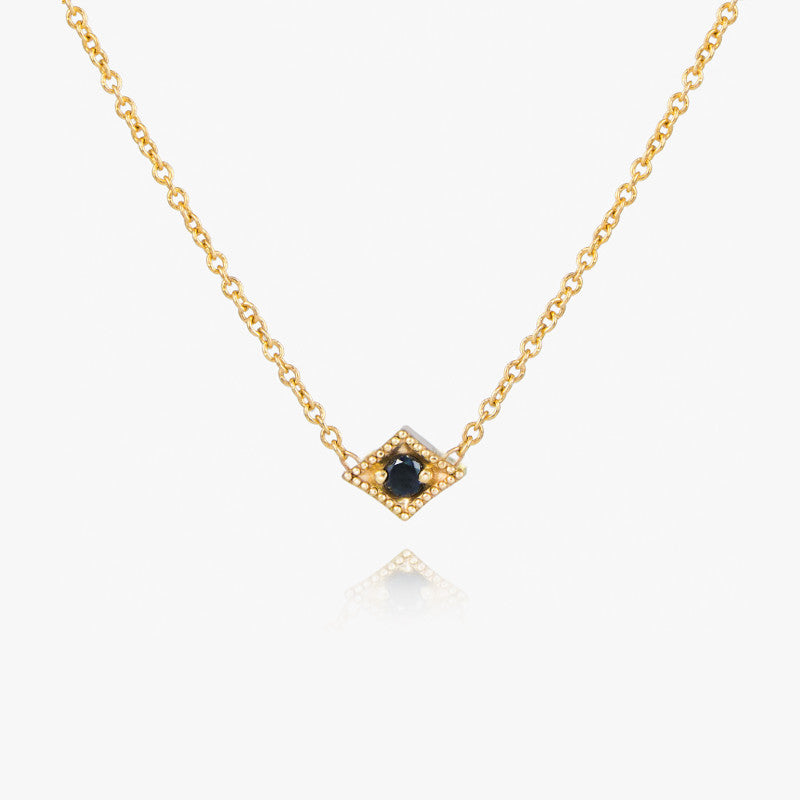 black diamond necklace by jamie park jewelry
