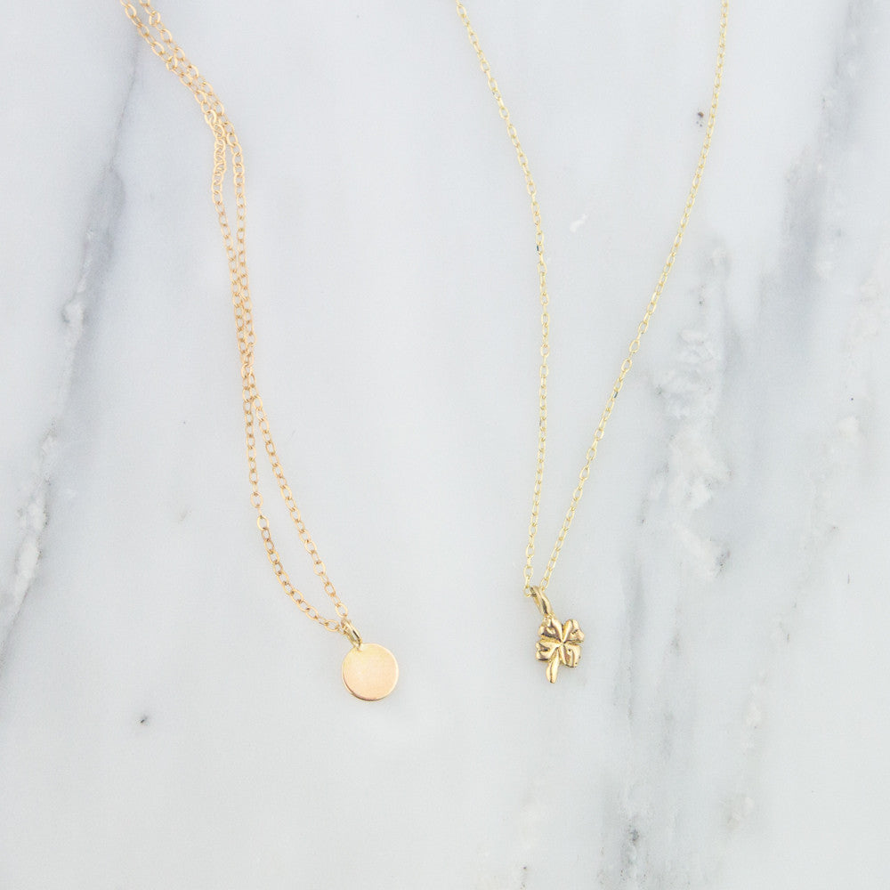 14K Four Leaf Clover Necklace