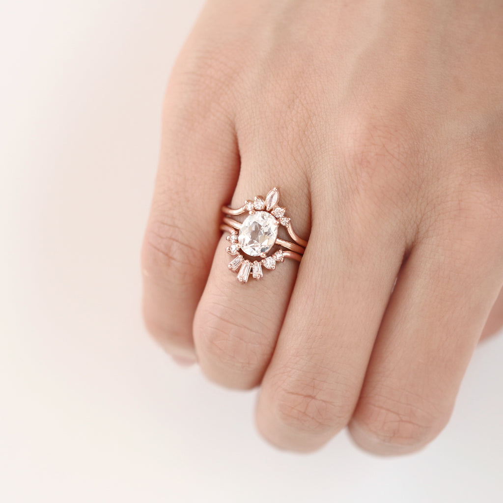 Luna Ring, Marquise Contour Band by Jamie Park Jewelry