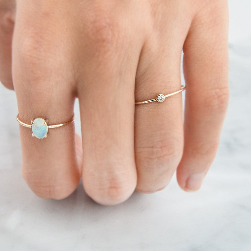 Diamond Ring, Diamond Solitaire Ring by Jamie Park Jewelry