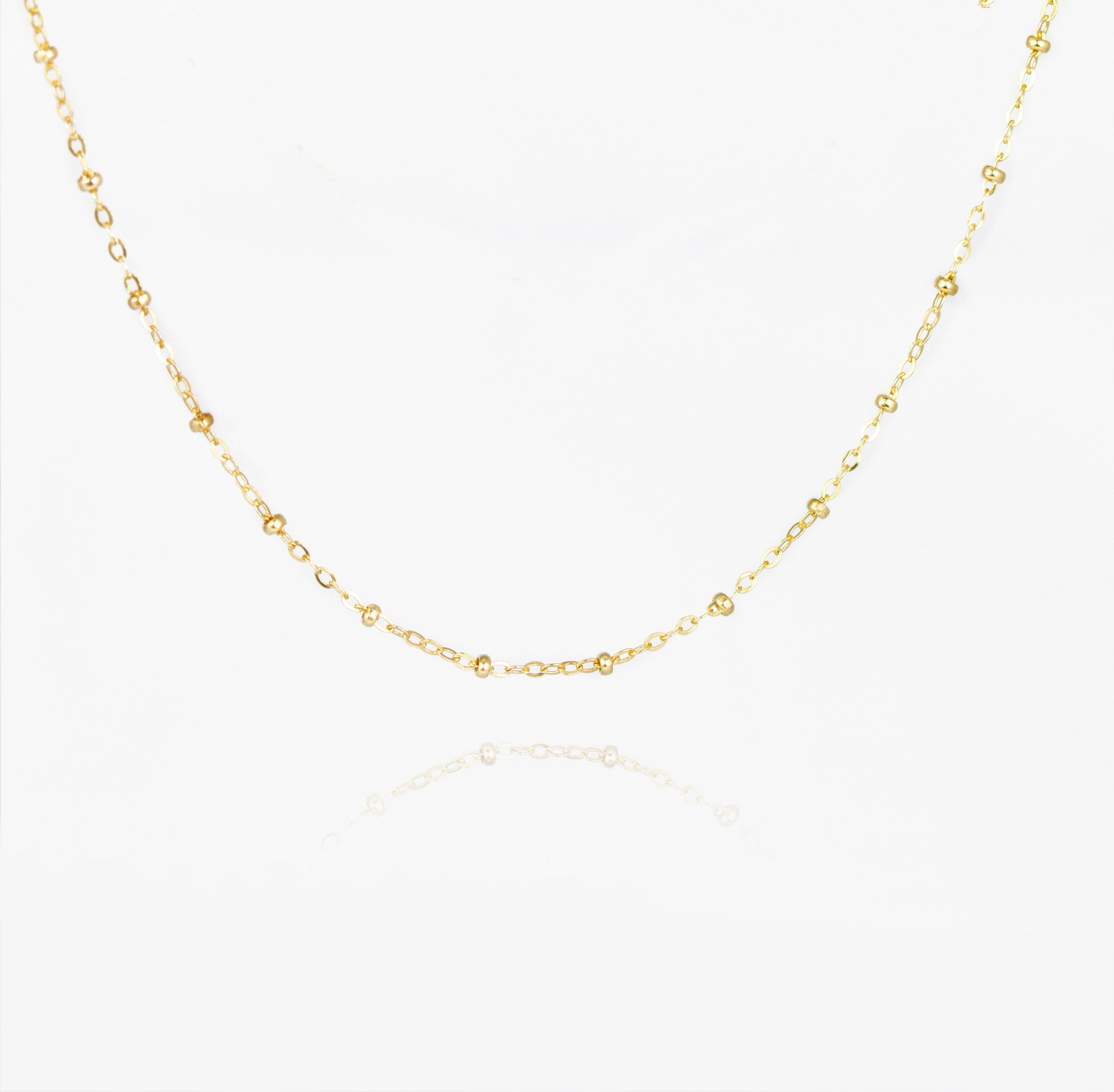 Beaded Chain Choker Necklace by Jamie Park Jewelry