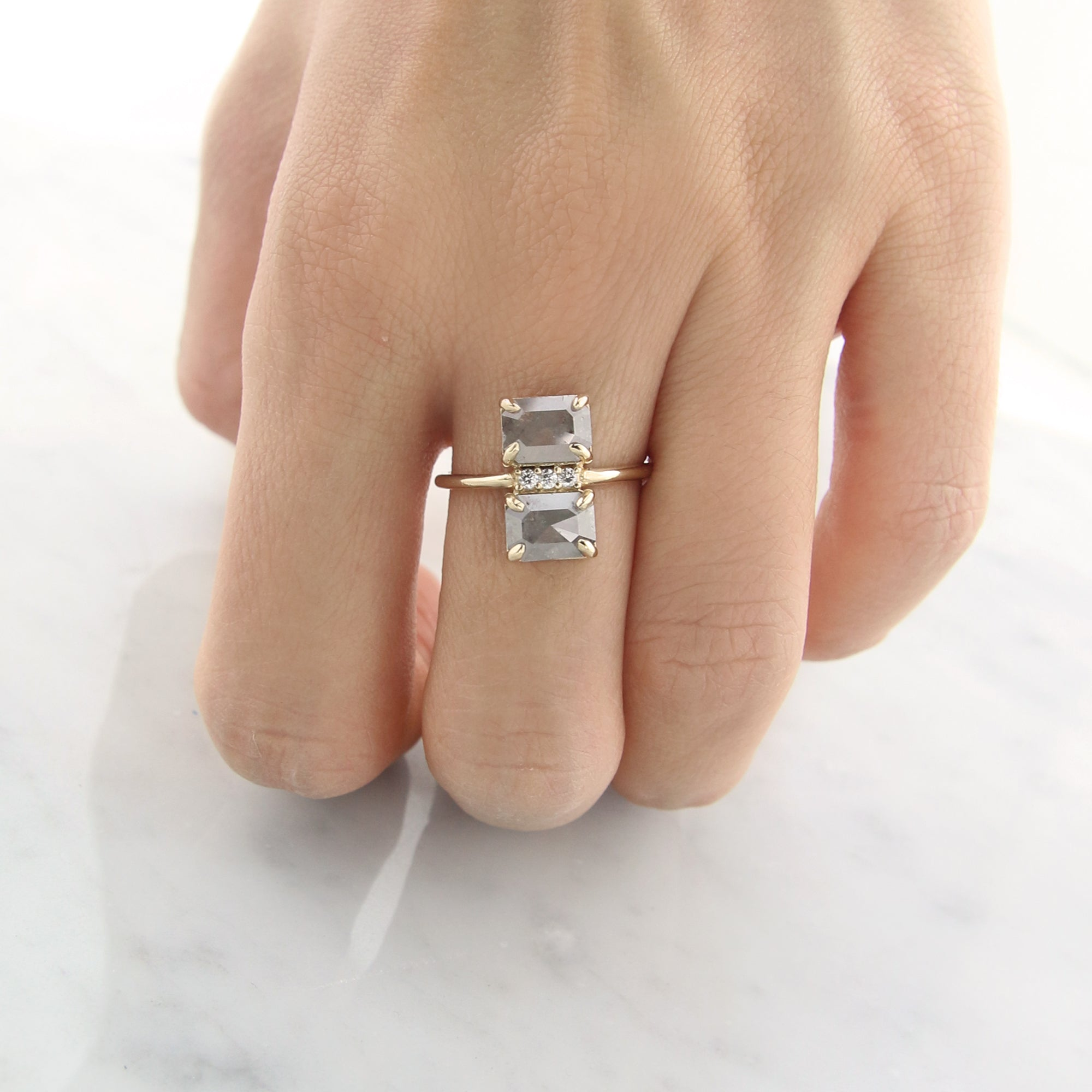 Double Decker Diamond Ring