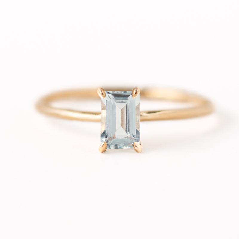Emerald Cut Aquamarine Ring by Jamie Park Jewelry