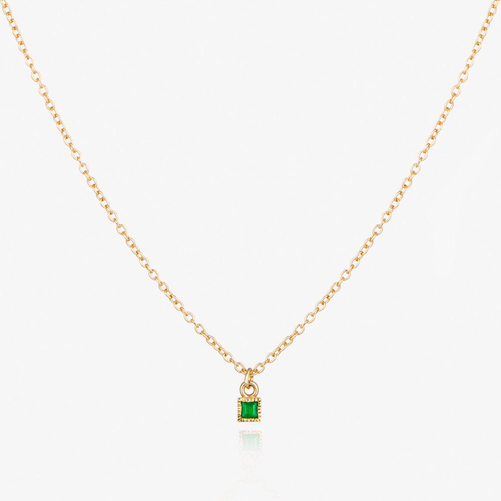14K Emerald Necklace