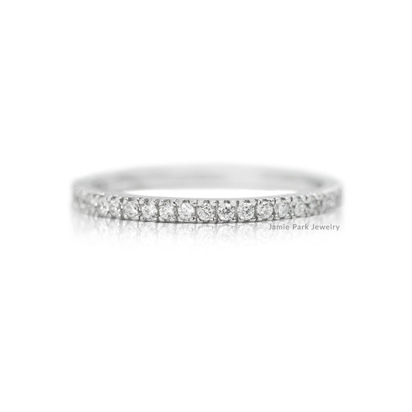 White Gold Half-Eternity Wedding Ring