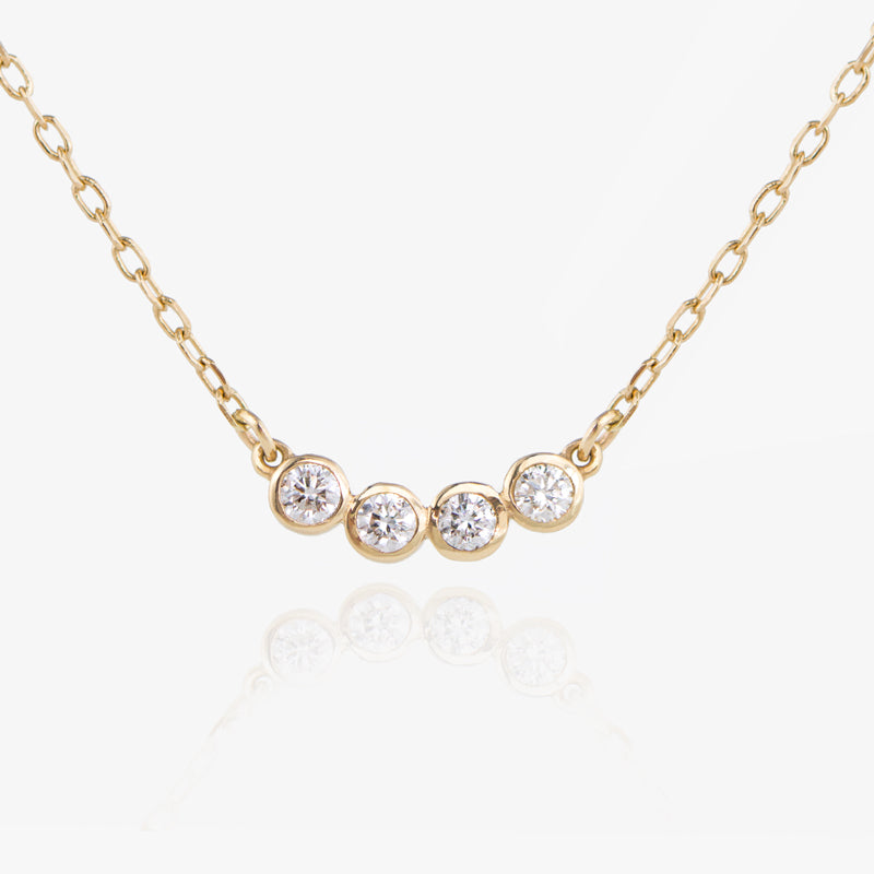four diamond necklace by jamie park jewelry usa