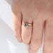 Half Halo Kite Cut Diamond Ring by Jamie Park Jewelry
