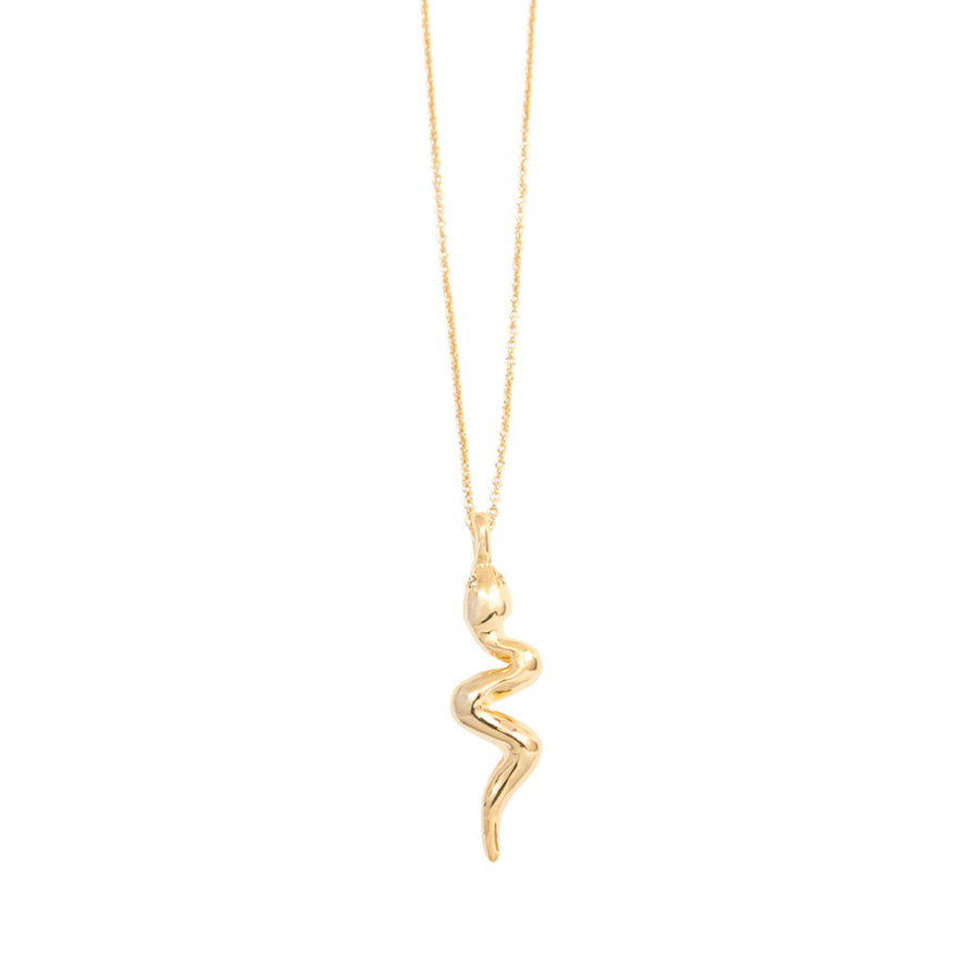 Diamond Snake Charm Necklace