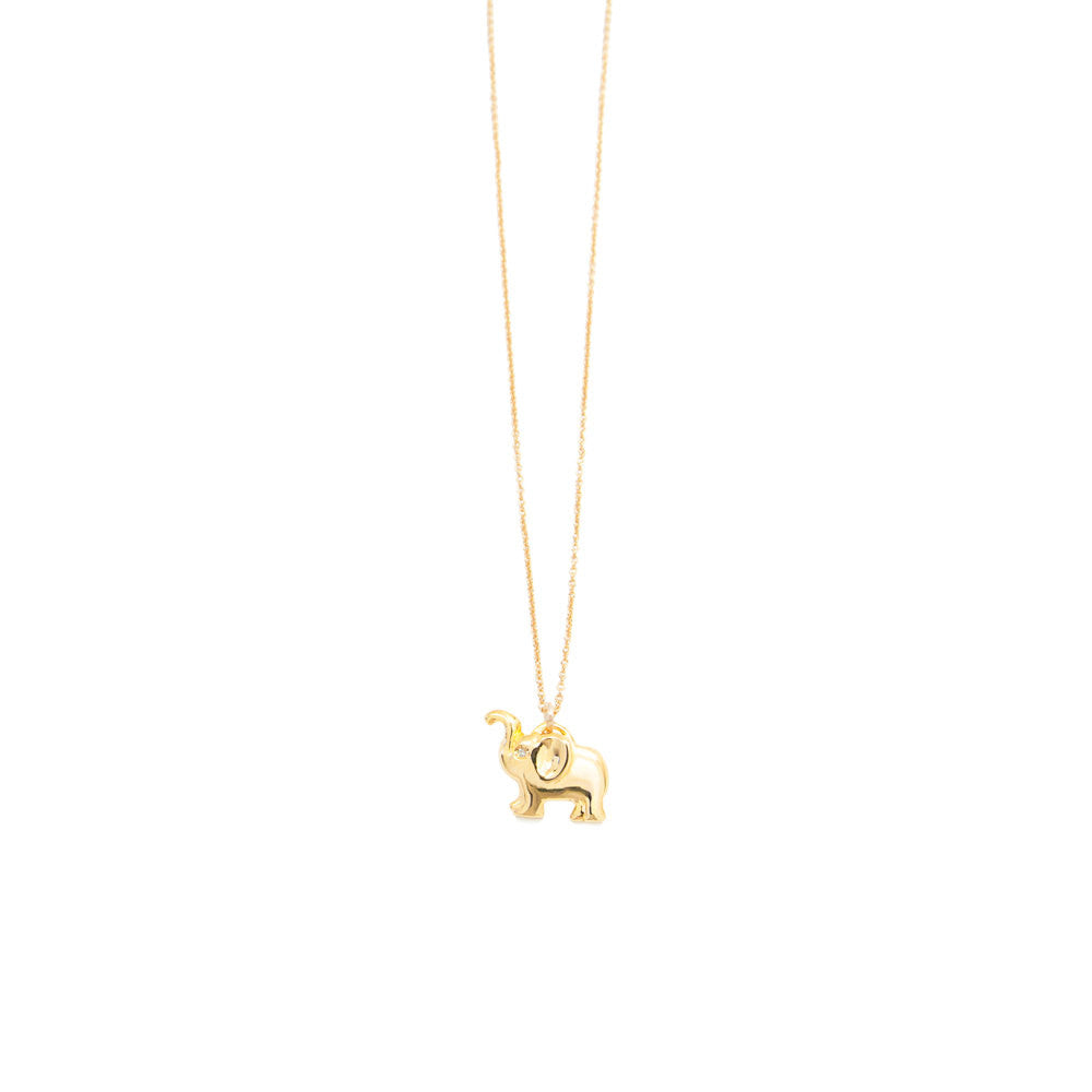 Diamond elephant charm necklace by jamie park, handmade jewelry